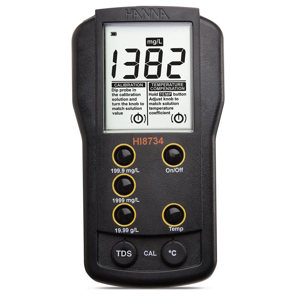 HI8734 Three Range Portable TDS Meter
